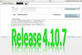 27. Januar 2015: Release 4.10.7 erfolgreich eingespielt