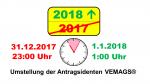 1. Januar 2018: Wartung der Anwendung VEMAGS erfolgreich