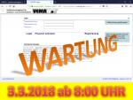 3. März 2018: Wartung der Anwendung VEMAGS ab 8:00 Uhr