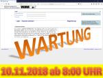 10. November 2018: Wartung der Anwendung VEMAGS ab 8:00 Uhr