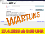 27. April 2019: Wartung der Anwendung VEMAGS ab 8:00 Uhr