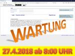 27. April 2019: Wartung der Anwendung VEMAGS ab 8:00 Uhr