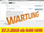 27. Juli 2019: Wartung der Anwendung VEMAGS ab 8:00 Uhr