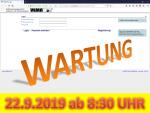 22. September 2019: Wartung der Anwendung VEMAGS ab 8:30 Uhr