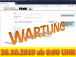 26. Oktober 2019: Wartung der Anwendung VEMAGS ab 8:00 Uhr