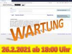 26. Februar 2021: Wartung der Anwendung ab 18:00 Uhr